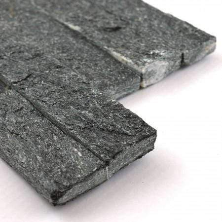 Anthracite Quartz Splitface Mosaic Tile