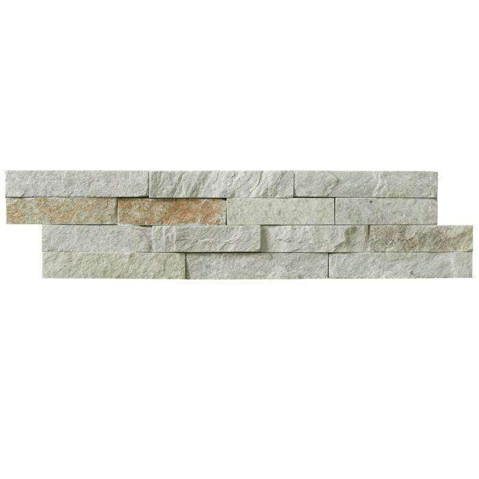 Ivory Quartz Split Face Mosaic Tile
