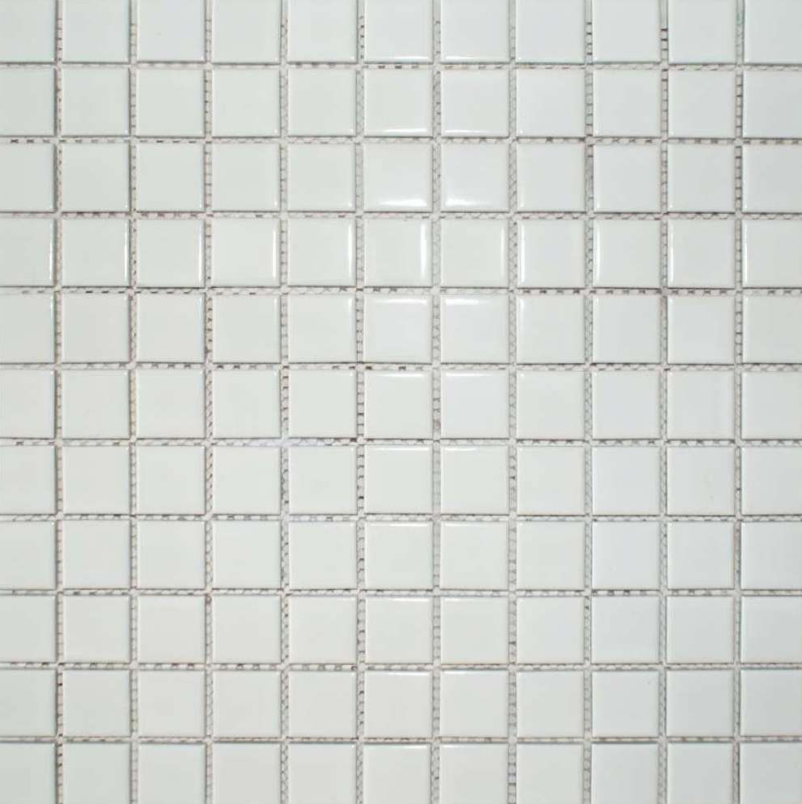 Autograph Gloss White Square Mini Mosaic Tiles