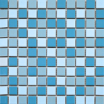 Autograph Matt Pool Blue Blend Square Mini Mosaic Tiles