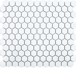 Autograph Matt White Hexagon Mini Mosaic Tiles