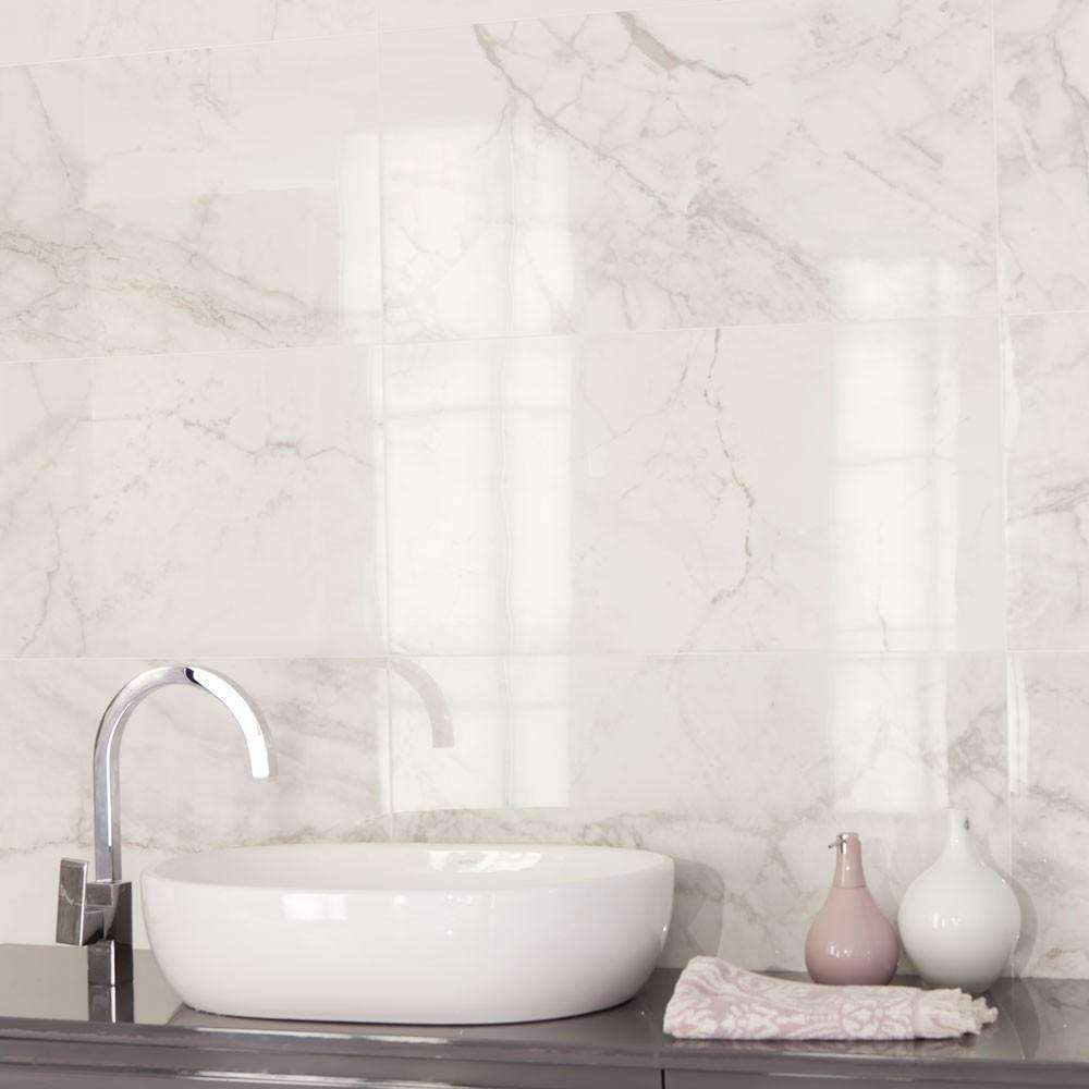 Broelli Extra Large Marble Effect Tiles 75cm x 37cm