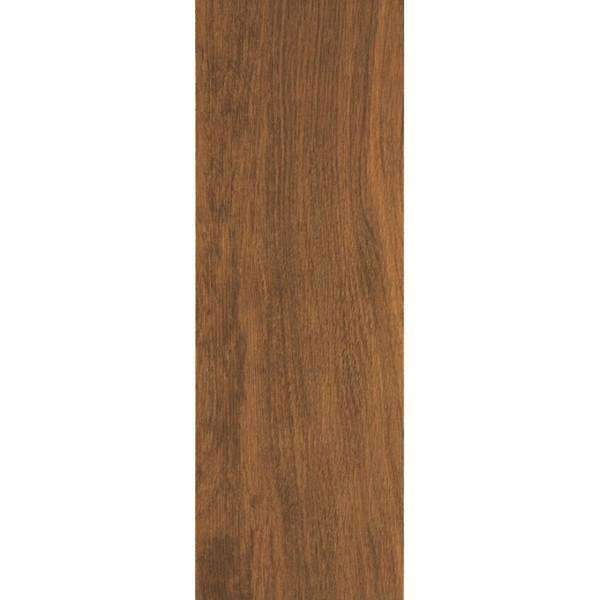 50cm x 17.5cm Wood Effect Gloss Finish Mid-Brown Tile