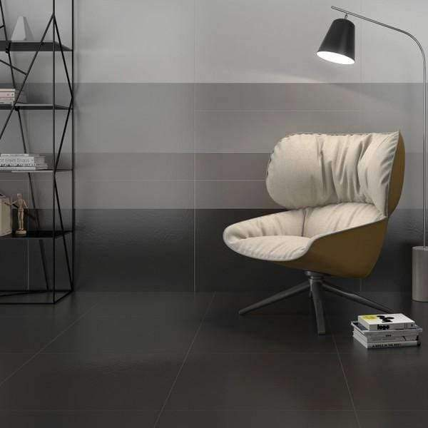 Classic Anthracite 60cm x 60cm Matt Black Porcelain Floor And Wall Tile