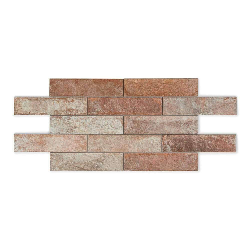 Clay Washed Brick Effect Wall Tiles 31cm x 7cm