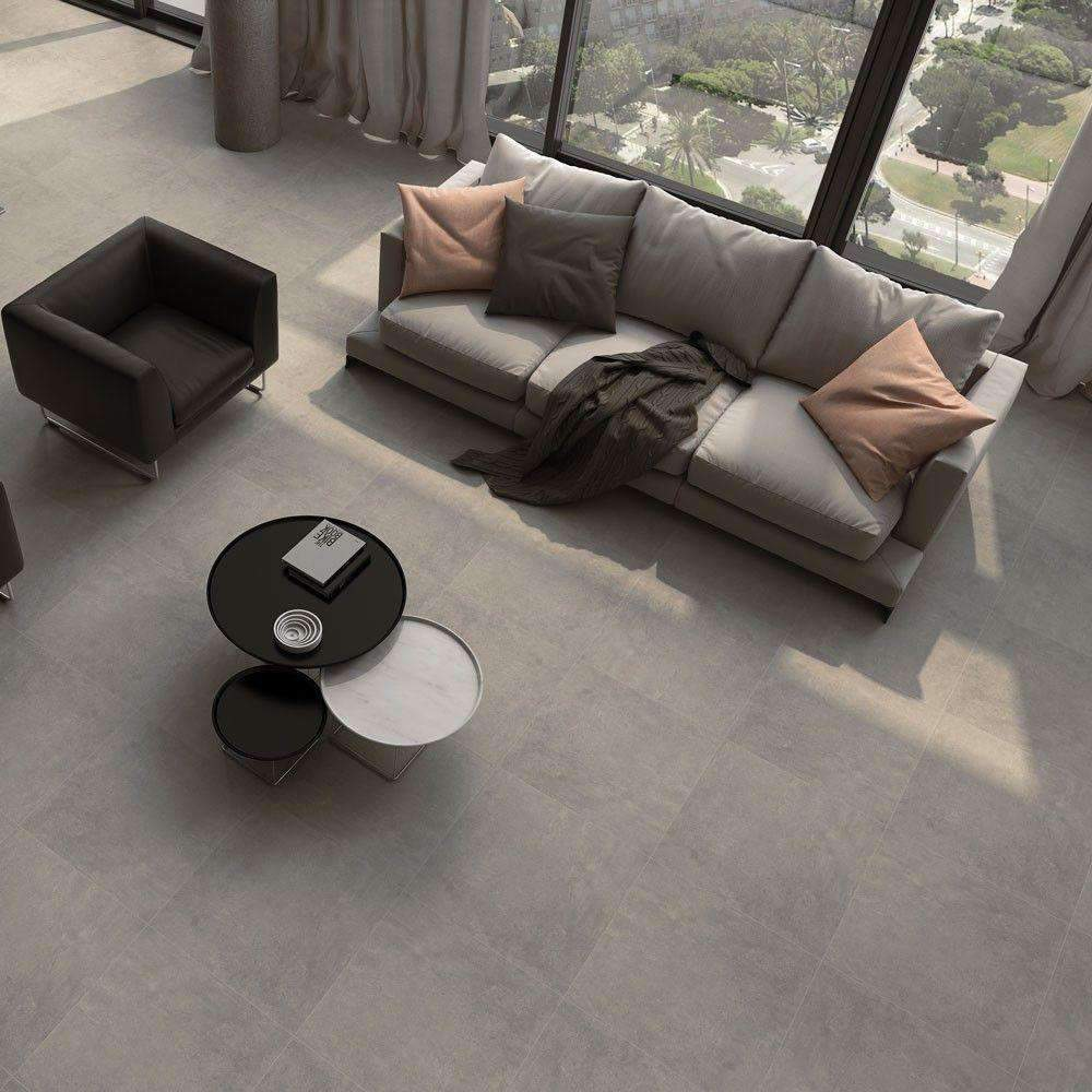 Seattle Charcoal Grey floor Tiles 60cm x 60cm - Appleby's Tiles
