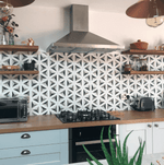 Contour Shadow Hexagon Pattern Tile