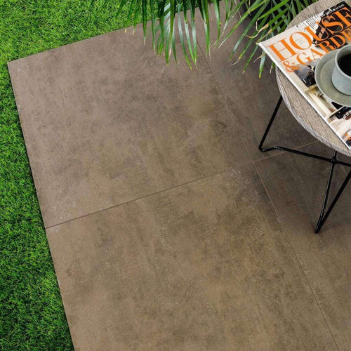 Copper Brown Stone Effect External 20mm Floor Tiles