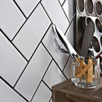 Crackle White Metro Tile - Appleby's Tiles