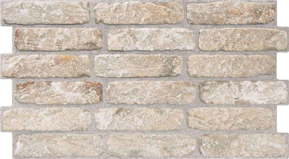 Mini Cream Brick Effect Wall Tile