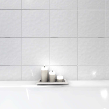 Decor Bumpy White Wall Tile 15x15
