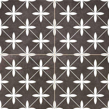 Dark Geometric Encaustic Wall & Floor Tile