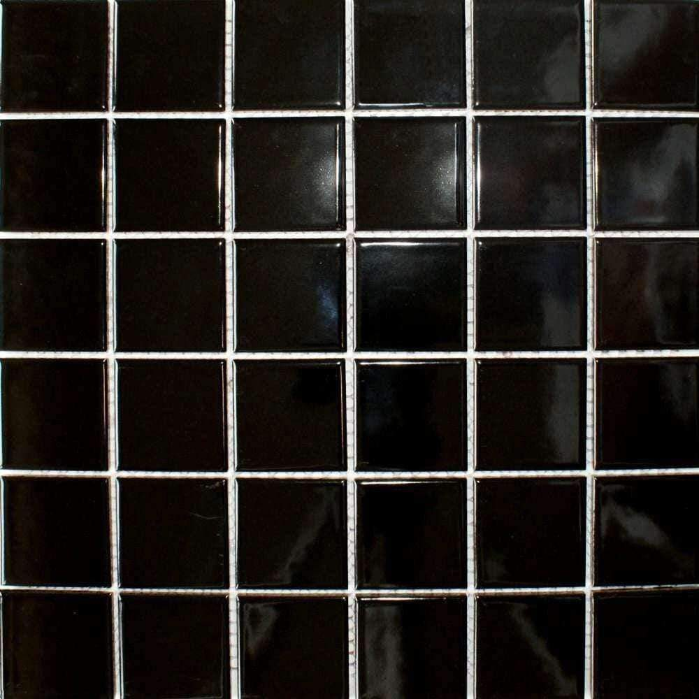 Gloss Black Mosaic Tiles