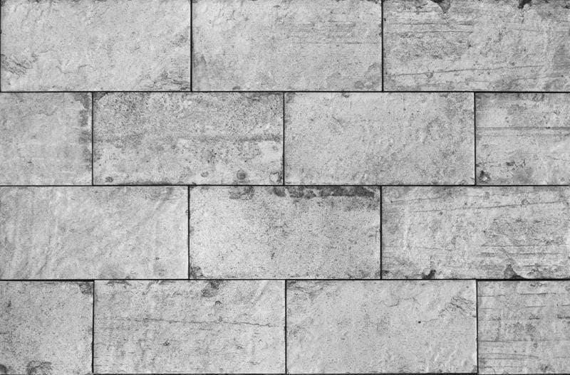 Light Grey Brick Effect Tile