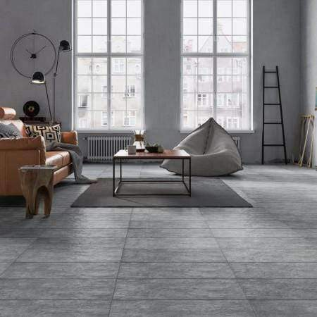 Midnight Grey Slate Effect Floor & Wall Tiles