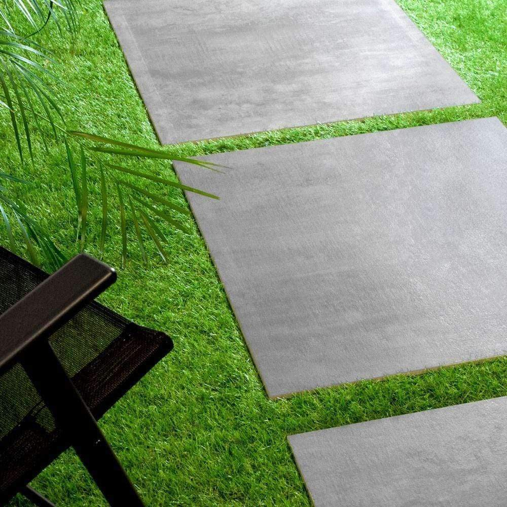Gunmetal Silver-Stone-Effect-External-20mm-Floor-Tiles