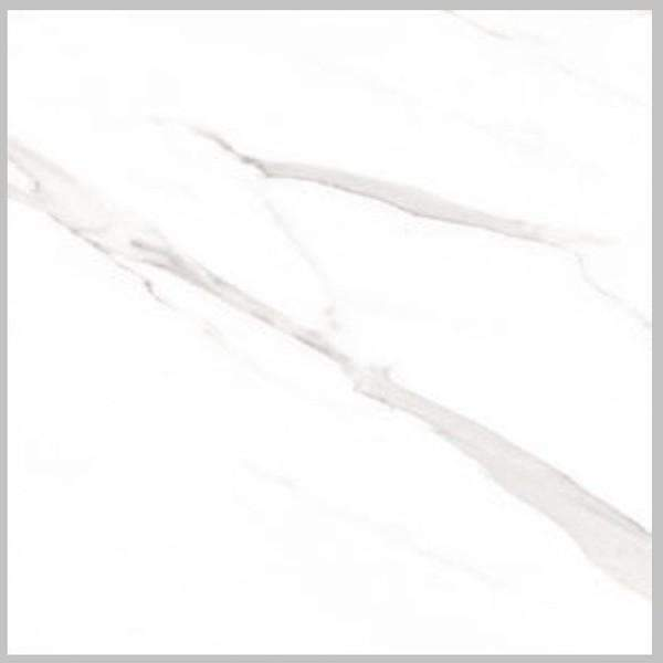Extra Large Format White Gloss Marble Effect Floor Tile 75cm x 75cm