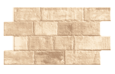 Interlocking Beige Brick Effect Wall Tile