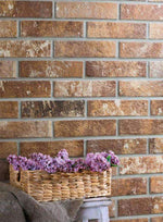 Knightsbridge Brown Brick Effect Wall Tile 25cm x 6cm