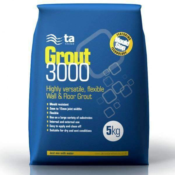 Light Grey Water Resistant Grout 5Kg