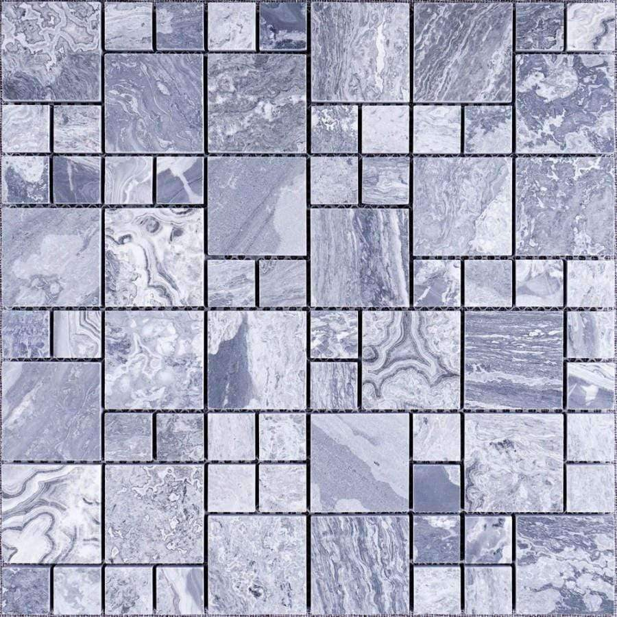 Marble Mixed Grey Modular Mosaics