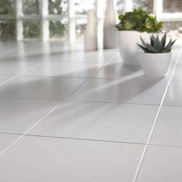 White Medium Floor Tile