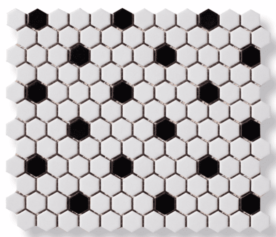Micro Mono Hexagon Mosaic Tiles