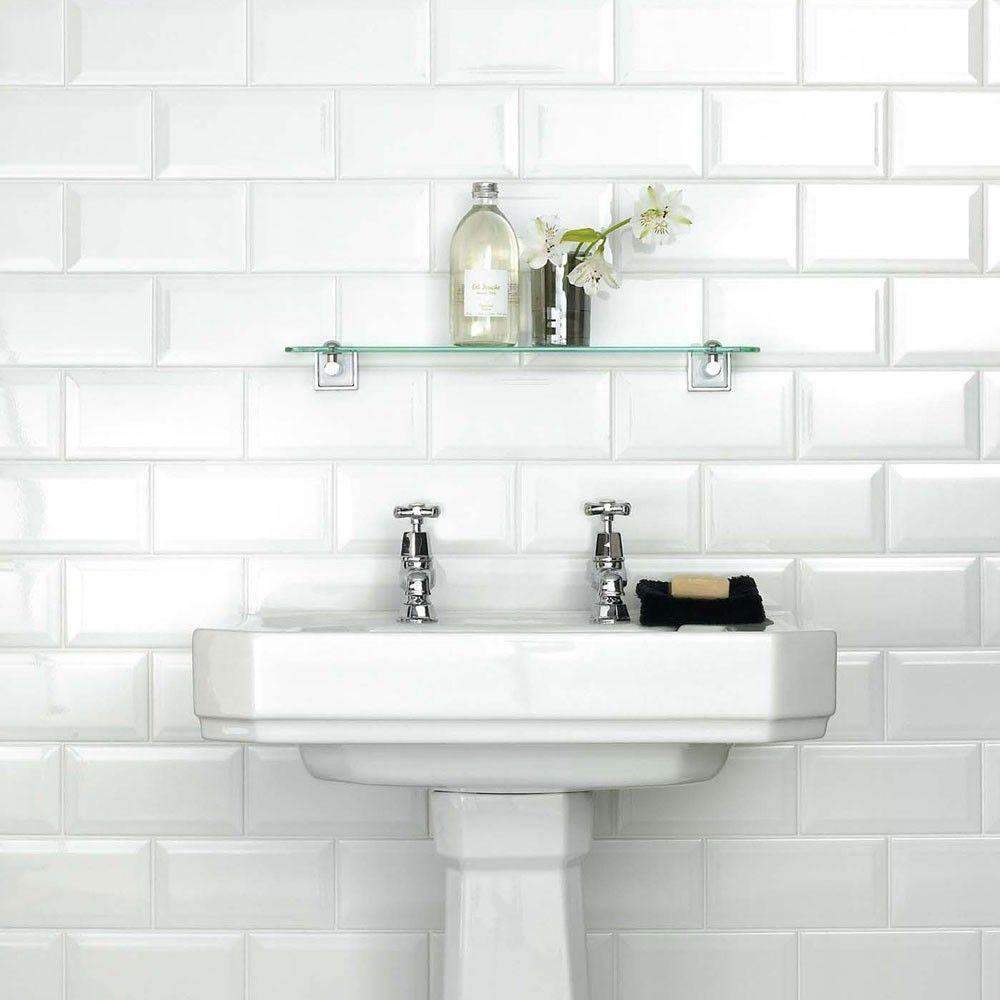 Matt White Mini Metro Bevelled Edge Tile - Appleby's Tiles