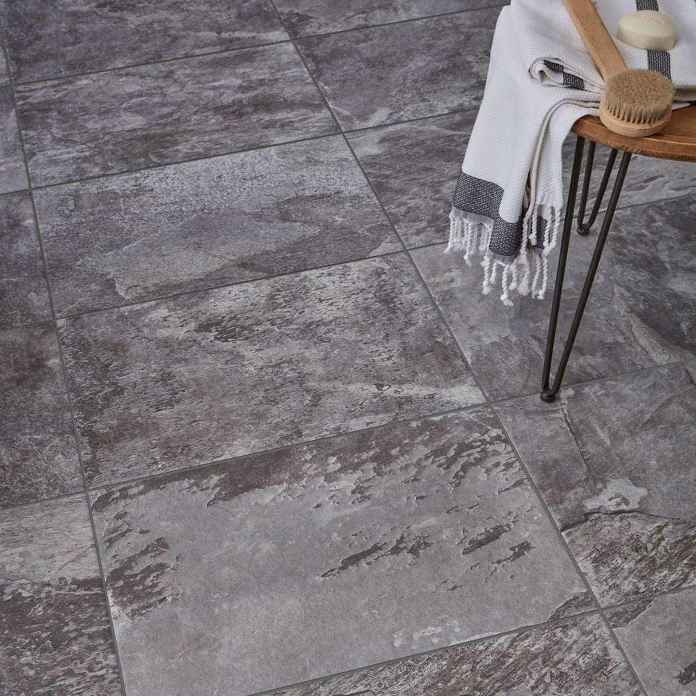 Deep Greys Slate Effect Floor & Wall Tiles