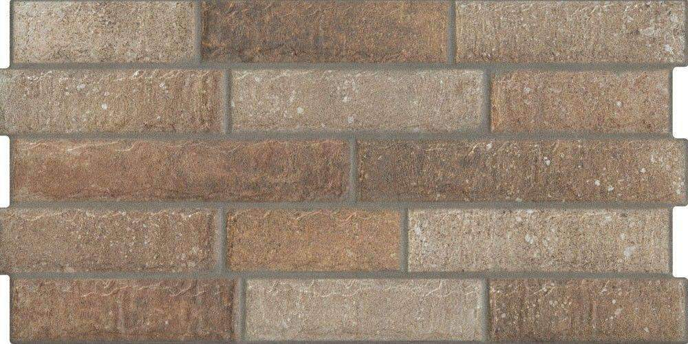 New York Dark Clay Brick Effect Wall Tile 60cm x 30cm