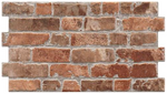 New York rustic brick red effect wall tile