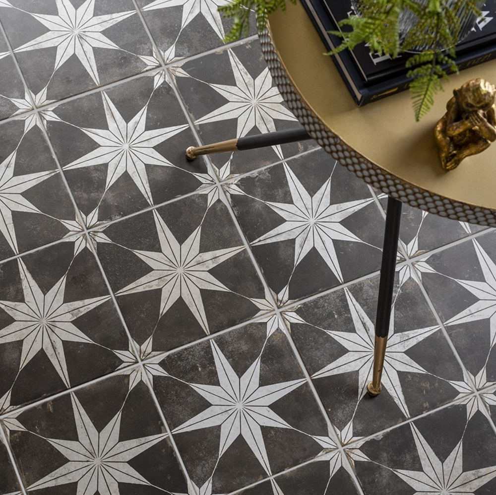 Night Star Grey Tiles