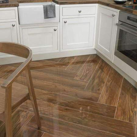 Polished Mid Oak Porcelain Tiles