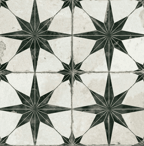 Octagram Heritage Encaustic Wall & Floor Tile