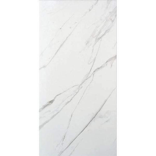 White Marble Effect Porcelain Floor tile 100cm x 50cm Matt Finish