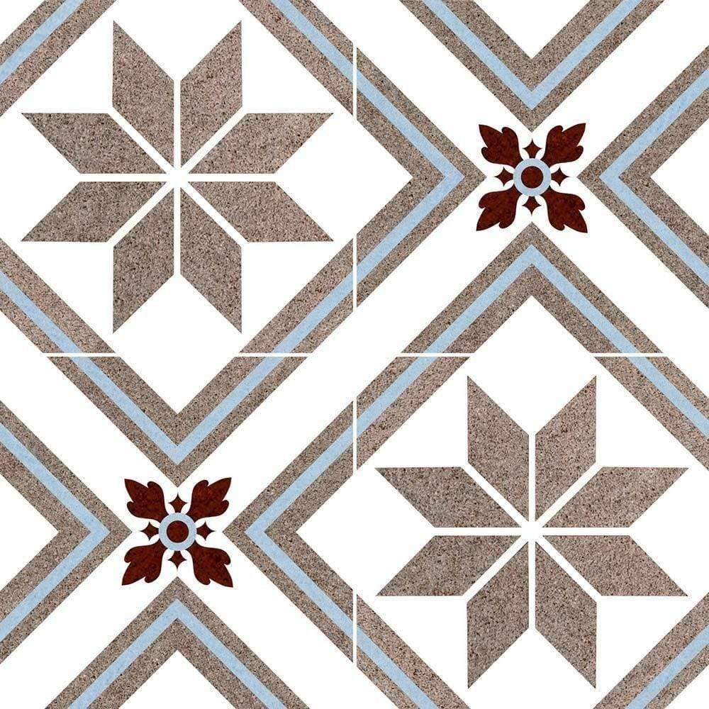 Ornate Patterned Encaustic Effect Tile