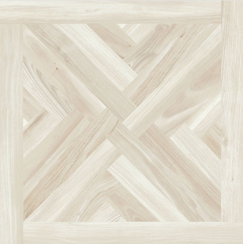 Parquet Cross Pale Birch Wood Effect Tiles