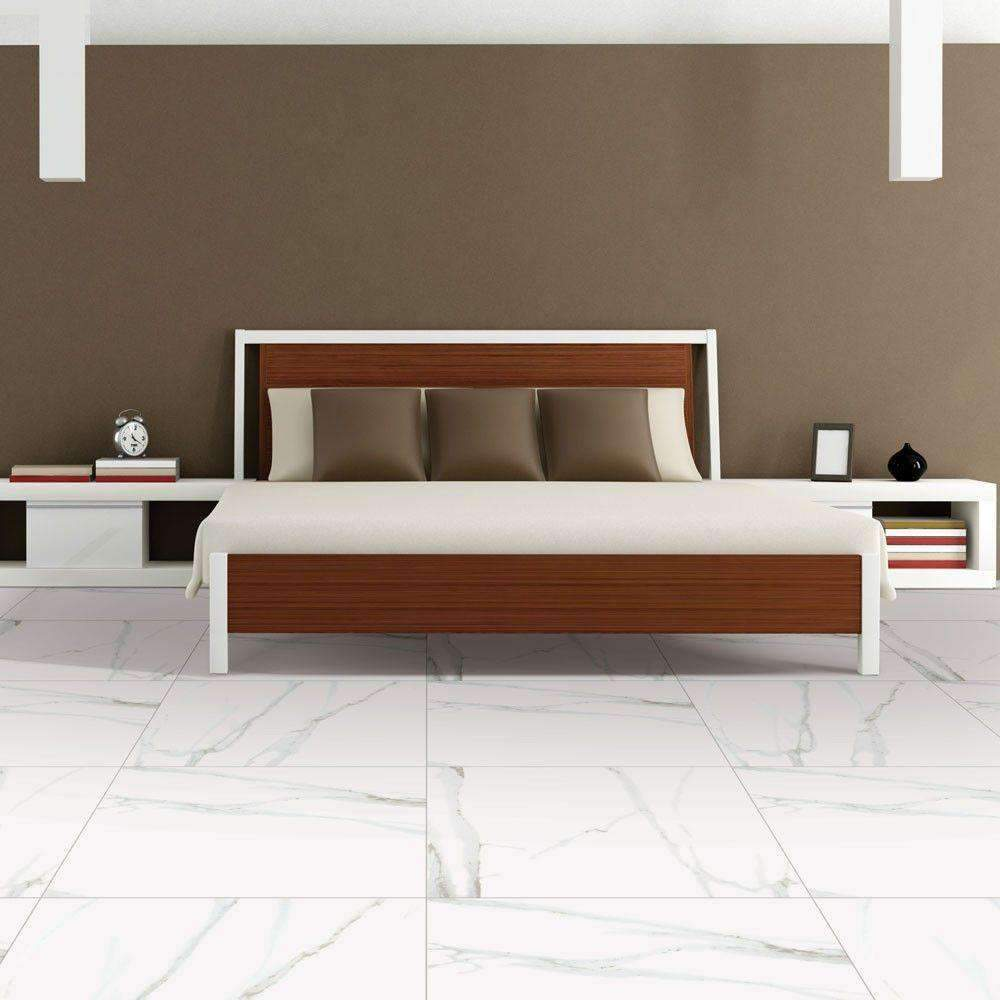 Polished-White-Marble-Effect-Tiles