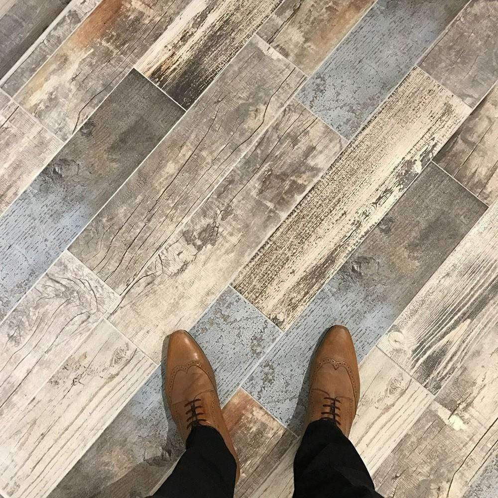 Rustic Blue Wood Effect Tile Appleby S Tiles