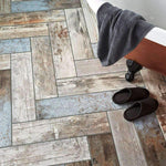 Rustic Blue Wood Effect Tile
