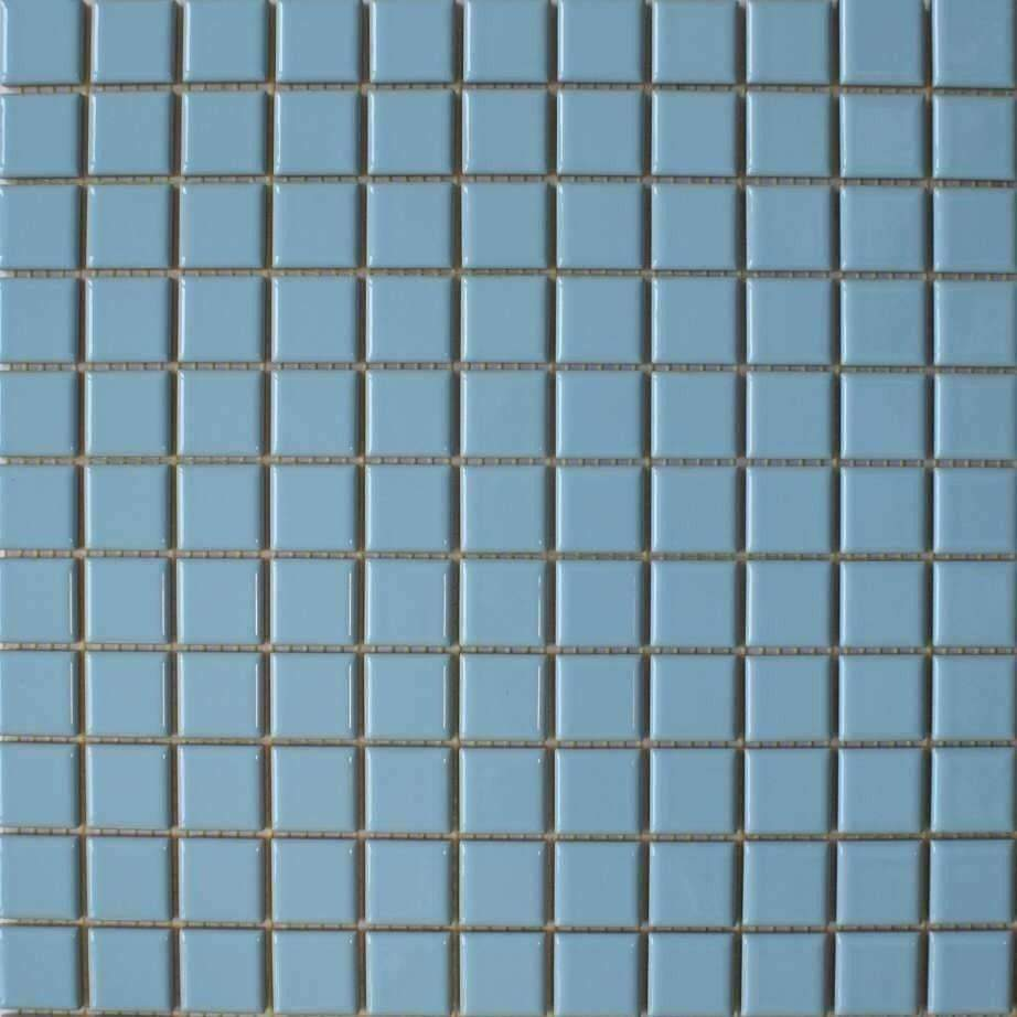 Small Light Blue Gloss Mosaic Tiles