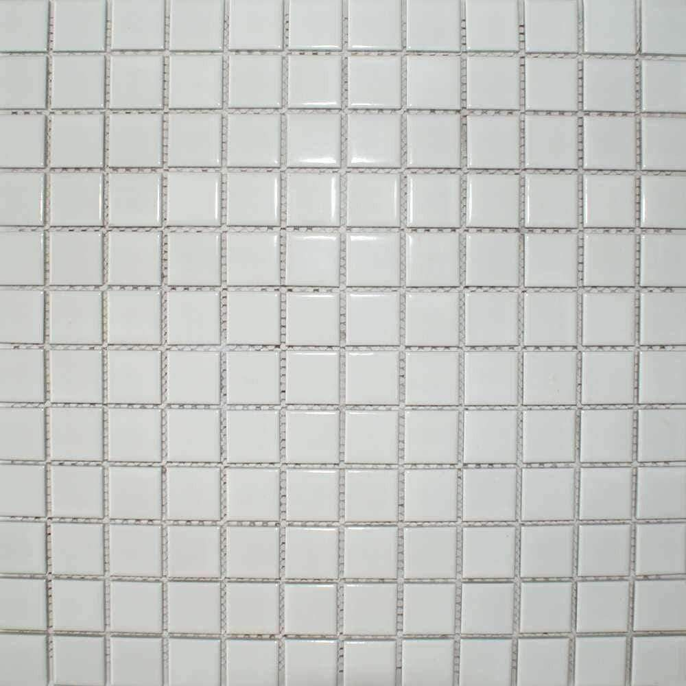 Small White Gloss Mosaic Tiles