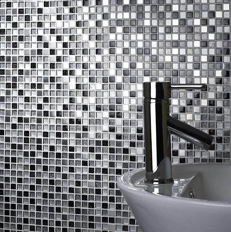 Sparkle Glass Metal Mix Mosaic Sheets - Appleby's Tiles