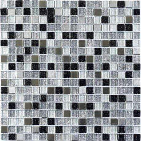Sparkle Glass Metal Mix Mosaic Sheets
