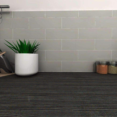 Satin Grey Metro Wall Tile