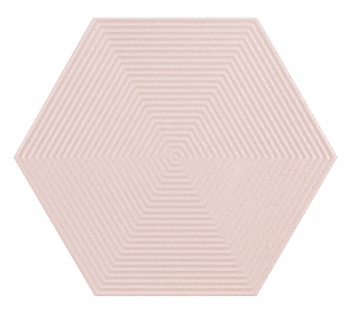 Textured Light Pink Opal Hexagon Tiles