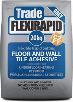 White Trade Rapid Set Flexible Wall & Floor Tile Adhesive 20kg