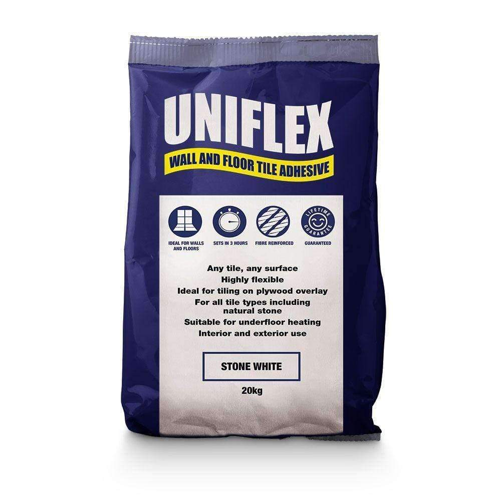 Uniflex White Flexible Tile Adhesive 20Kg