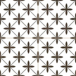 Vintage White London Encaustic Effect Tile