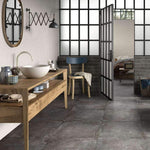 Wall Street Grey Rustic 25 x 7.5 Brick Effect Tile